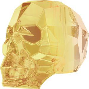 Skull Bead Crystal Metallic Sunshine (l'unité)