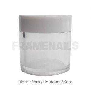 Pot Transparent Couvercle Blanc 5g