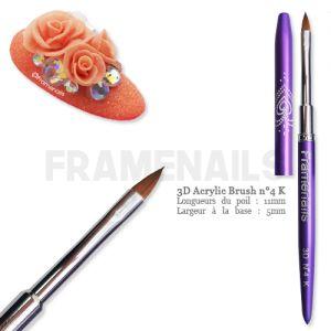 Pinceau 3D Résine/Gel n°4K (Purple)