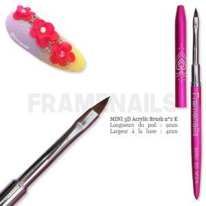 Pinceau 3D Mini Résine/Gel n°2K (Pink)