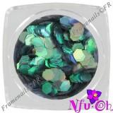 Diamond Glitter L-Khaki Black