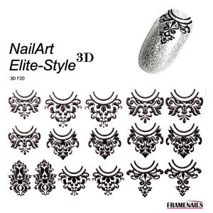 Stickers 3D Elite Style 01 (Black)