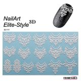 Stickers 3D Elite Style 01 (White)