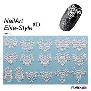 Stickers 3D Elite Style 01 (White)