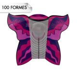 Formes Papillon Pink (x100)