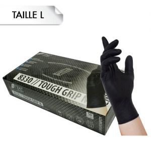 Gants Nitrile Tough Grip Black L