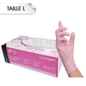 Gants Nitrile Pink L