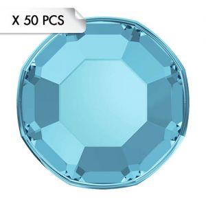Mini Strass SS3 Aquamarine (50pcs)
