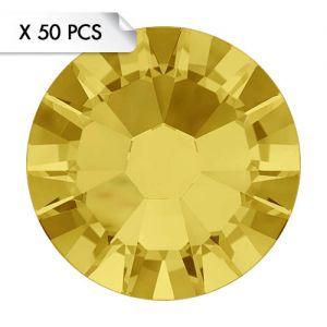 Strass SS9 Light Topaz (50pcs)