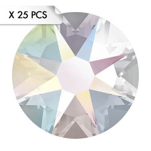 Strass SS12 Crystal AB (25pcs)