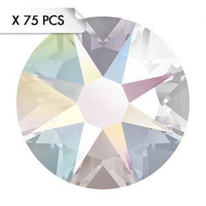 Strass SS12 Crystal AB (75pcs)