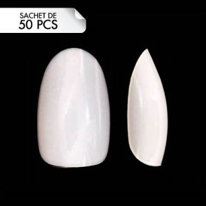 Press-On Oval Tips Taille 4 (50pcs)