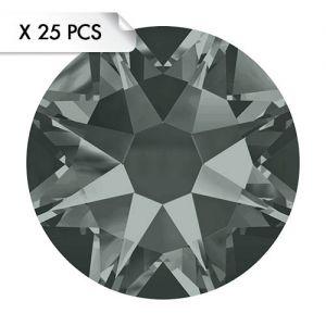 Strass SS16 Black Diamond (25pcs)