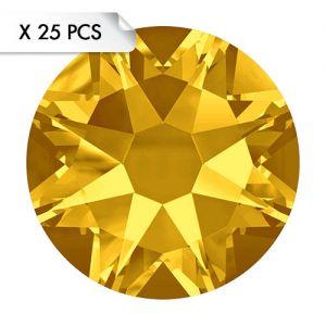 Strass SS16 Light Topaz (25pcs)