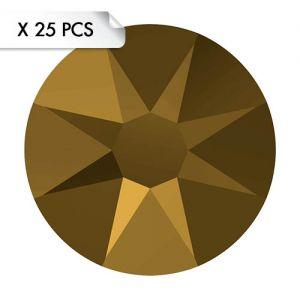 Strass SS12 Crystal Dorado (25pcs)