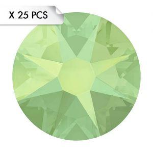 Strass SS12 Chrysolite Opal (25pcs)