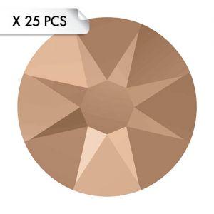 Strass SS12 Crystal Rose Gold (25pcs)