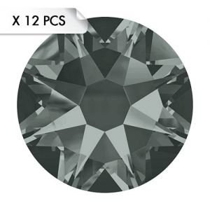 Strass SS30 Black Diamond (12pcs)