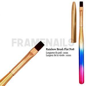 Rainbow Brush Flat No8
