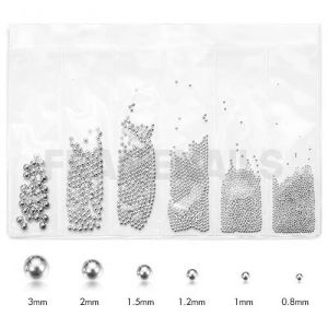 Pack Micro et Mini Beads White Silver