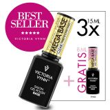 Pack 3 Mega Base Clear 15ml + Pink 8ml