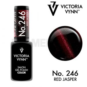 Gel Polish 246 Cat Eyes Red Jasper