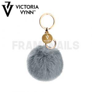 Porte-clés Pompon Grey VICTORIA VYNN
