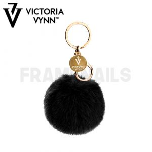 Porte-clés Pompon Black VICTORIA VYNN