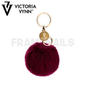 Porte-clés Pompon Claret VICTORIA VYNN