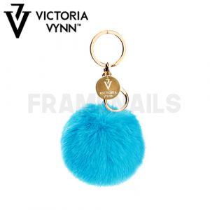 Porte-clés Pompon Blue VICTORIA VYNN