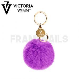 Porte-clés Pompon Violet VICTORIA VYNN