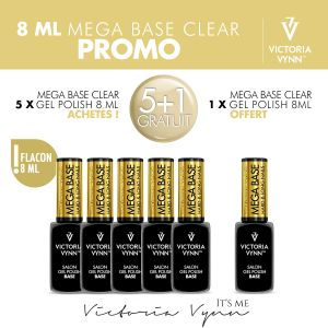 Pack Mega Base Clear 8ml 5+1 Gratuit