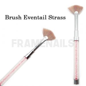 Brush Eventail Strass Pink