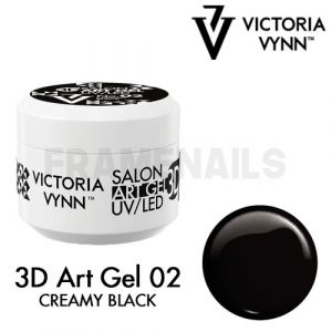 3D Art Gel 02 Creamy Black