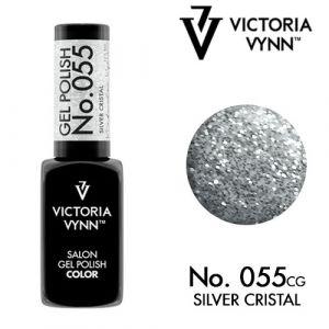 Gel Polish 55 Silver Cristal