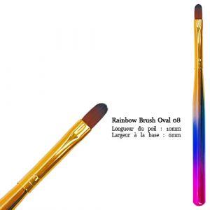 Rainbow Brush Oval No8