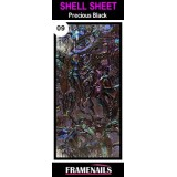 Shell Sheet no9 Precious Black