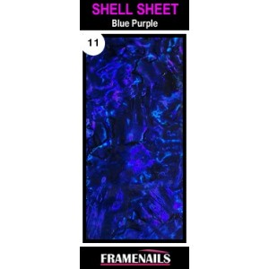 Shell Sheet no11 Blue Purple