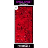 Shell Sheet no22 Red Marble