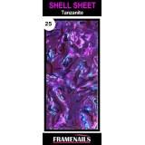 Shell Sheet no25 Tanzanite