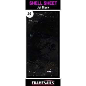 Shell Sheet no26 Jet Black