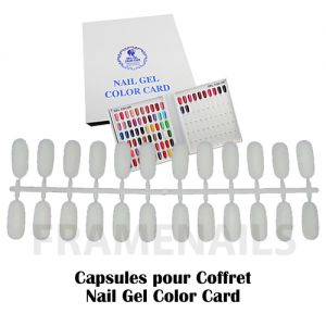 Capsules Pour Nail Gel Color Card (x24)