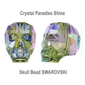 Skull Bead Crystal Paradise Shine (13mm)