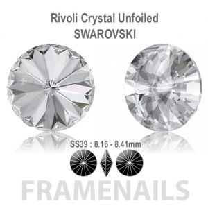 Rivolis Crystal Unfoiled Swarovski SS39 (5pcs)