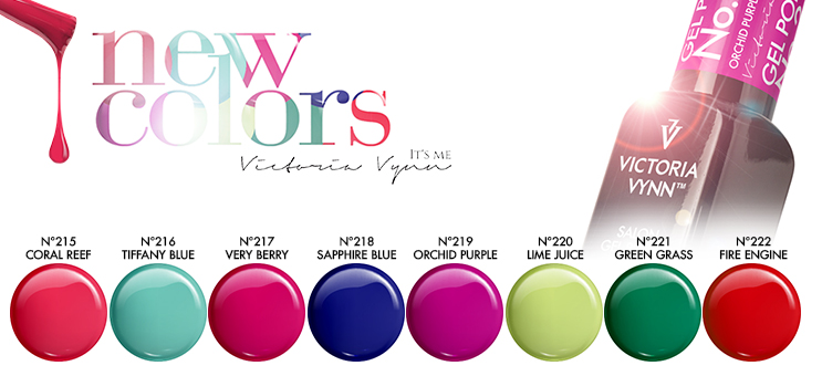 ! 8 NEW Gel Polish Colors ! Spring 2019 !